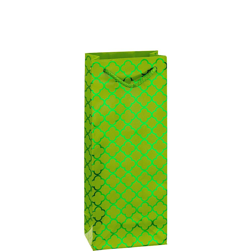 Metallic Kiwi Green Moroccan Bottle Bag Image #1