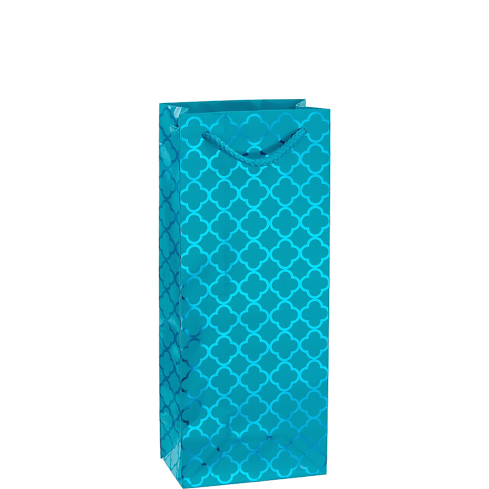 Metallic Caribbean Blue Moroccan Bottle Bag Image #1