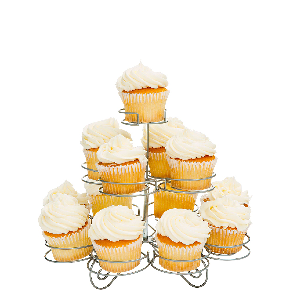 Silver Wire Cupcake Stand Image #1