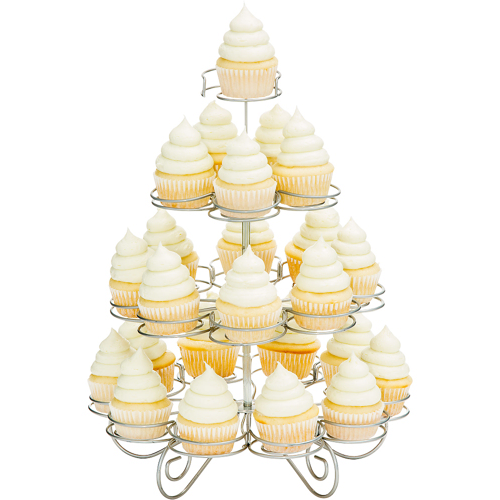 Nav Item for Silver Wire Mini Cupcake Stand Image #1
