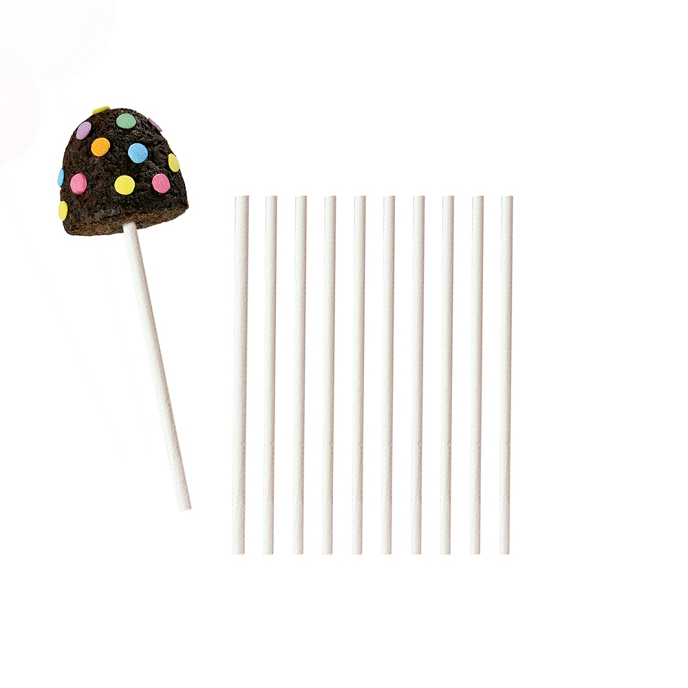 White Lollipop Sticks 50ct | Party City