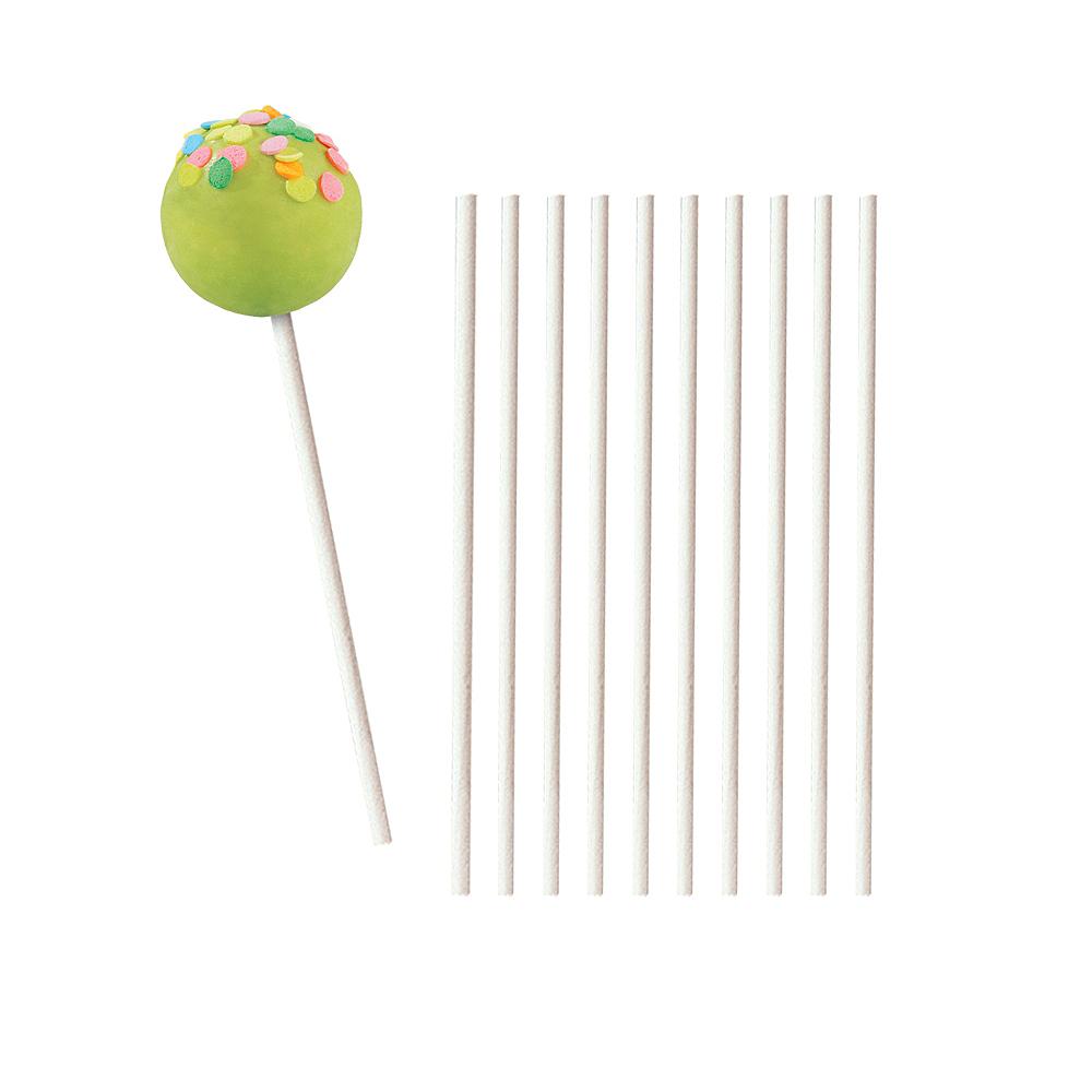 White Lollipop Sticks 35ct Image #1