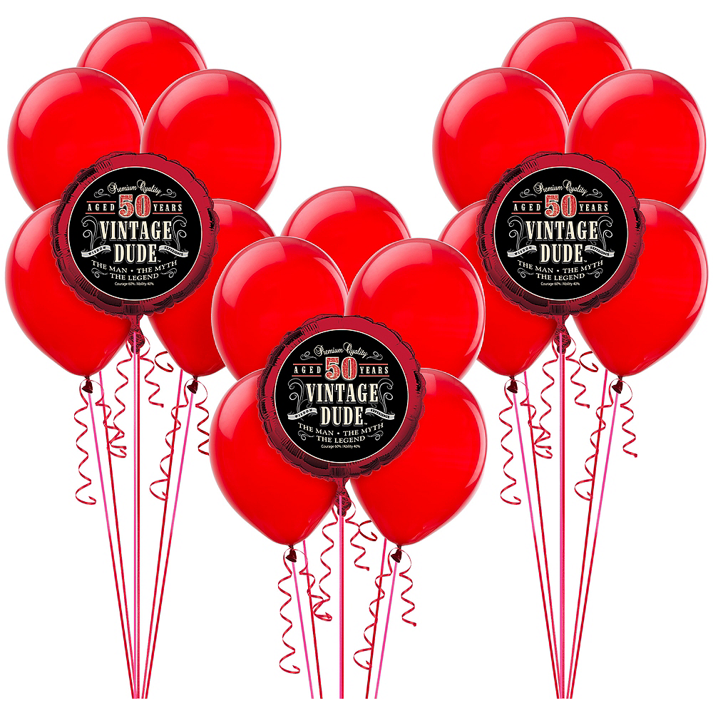 Vintage Dude 50th Balloon Kit | 50th Birthday Party Supplies | Party ...