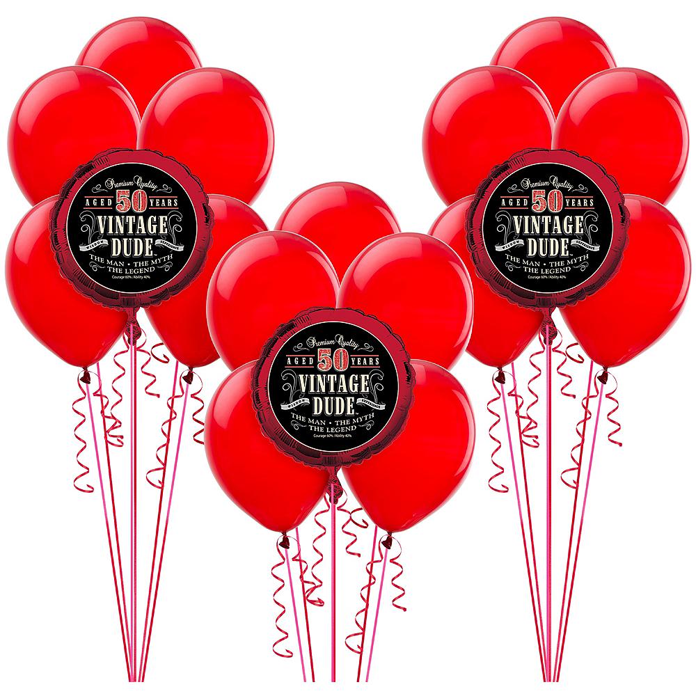 Nav Item For Vintage Dude 50th Balloon Kit Image 1