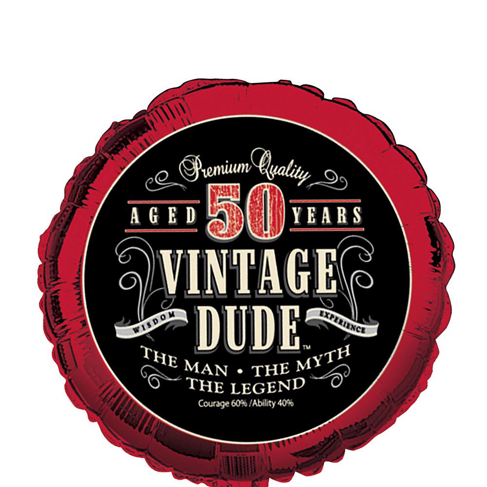 Vintage Dude 50th Balloon Kit Image #4