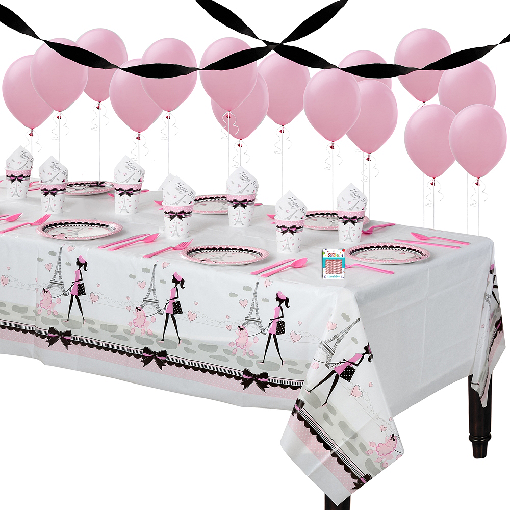 Pink Paris Basic Party Kit for 8 Guests Image #1