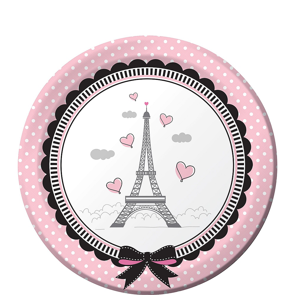 Pink Paris Basic Party Kit for 8 Guests Image #2