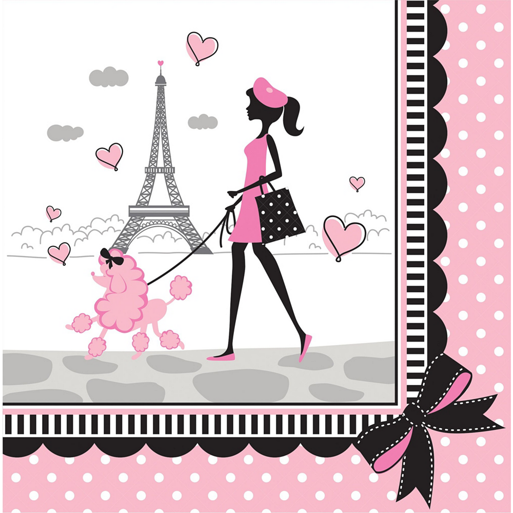 Pink Paris Basic Party Kit for 8 Guests Image #5