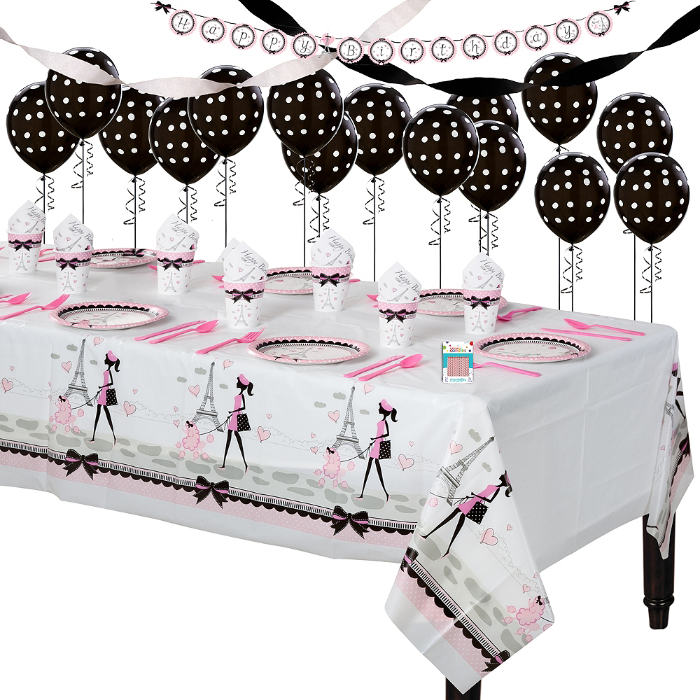 Pink Paris Super Party Kit for 8 Guests Image #1