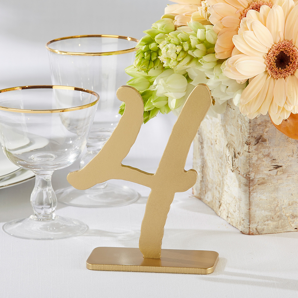 Gold Table Numbers 1-6 Image #1