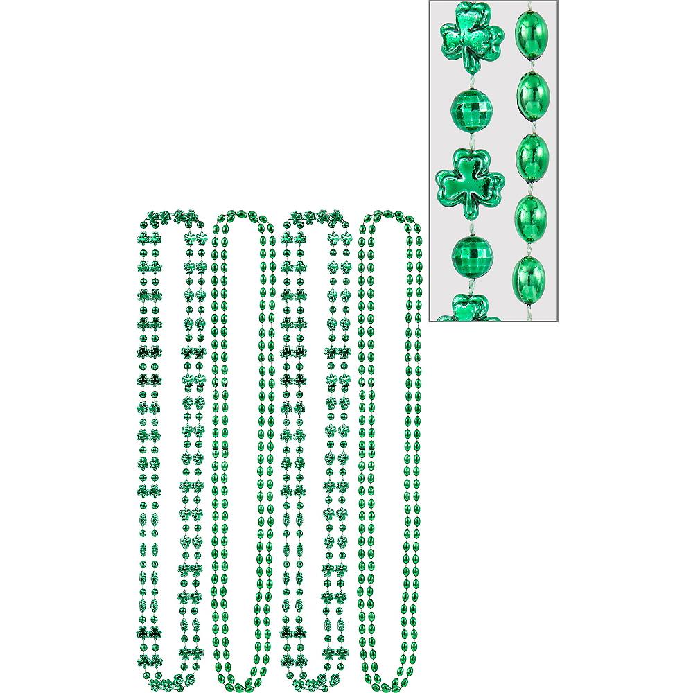 Green Shamrock Bead Necklaces 8ct Image #1