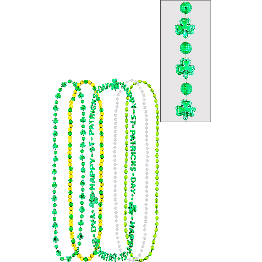 St. Patrick's Day Bead Necklaces 5ct Image #1