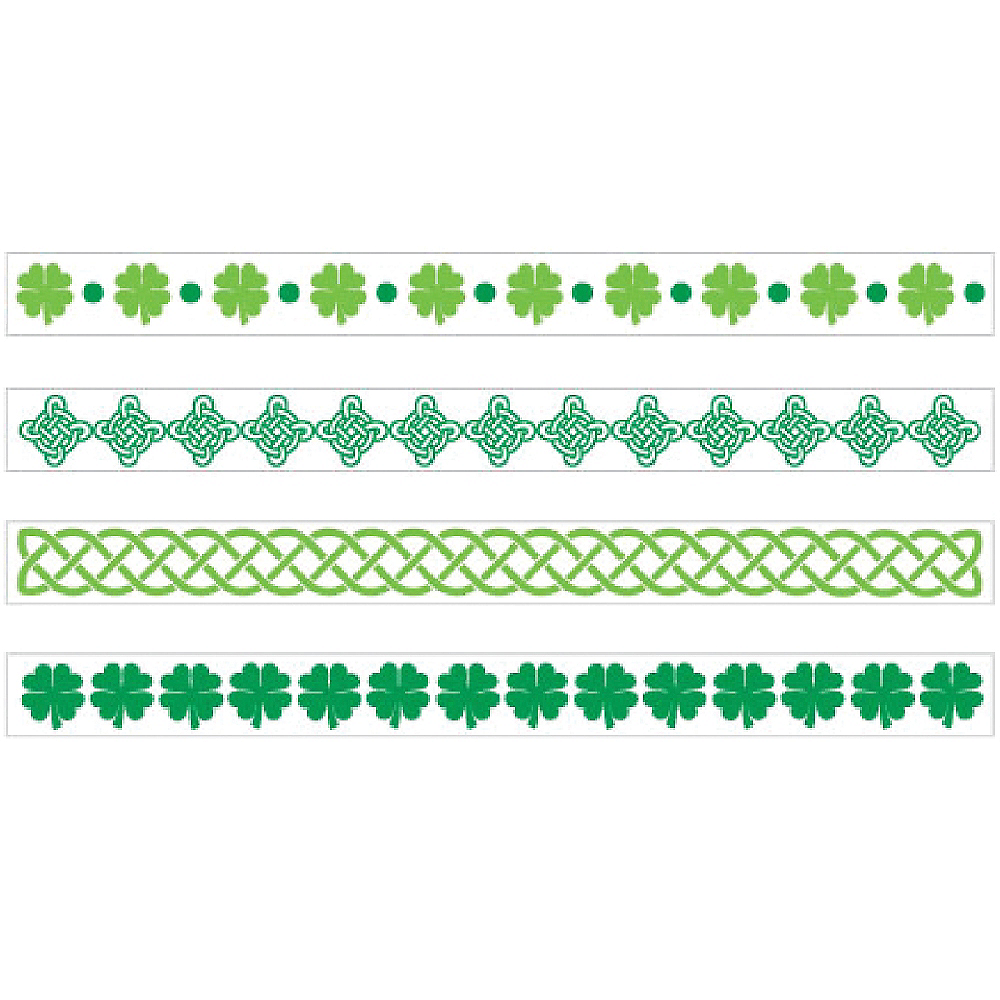 St. Patrick's Day Bracelet Tattoos 2 Sheets Image #1