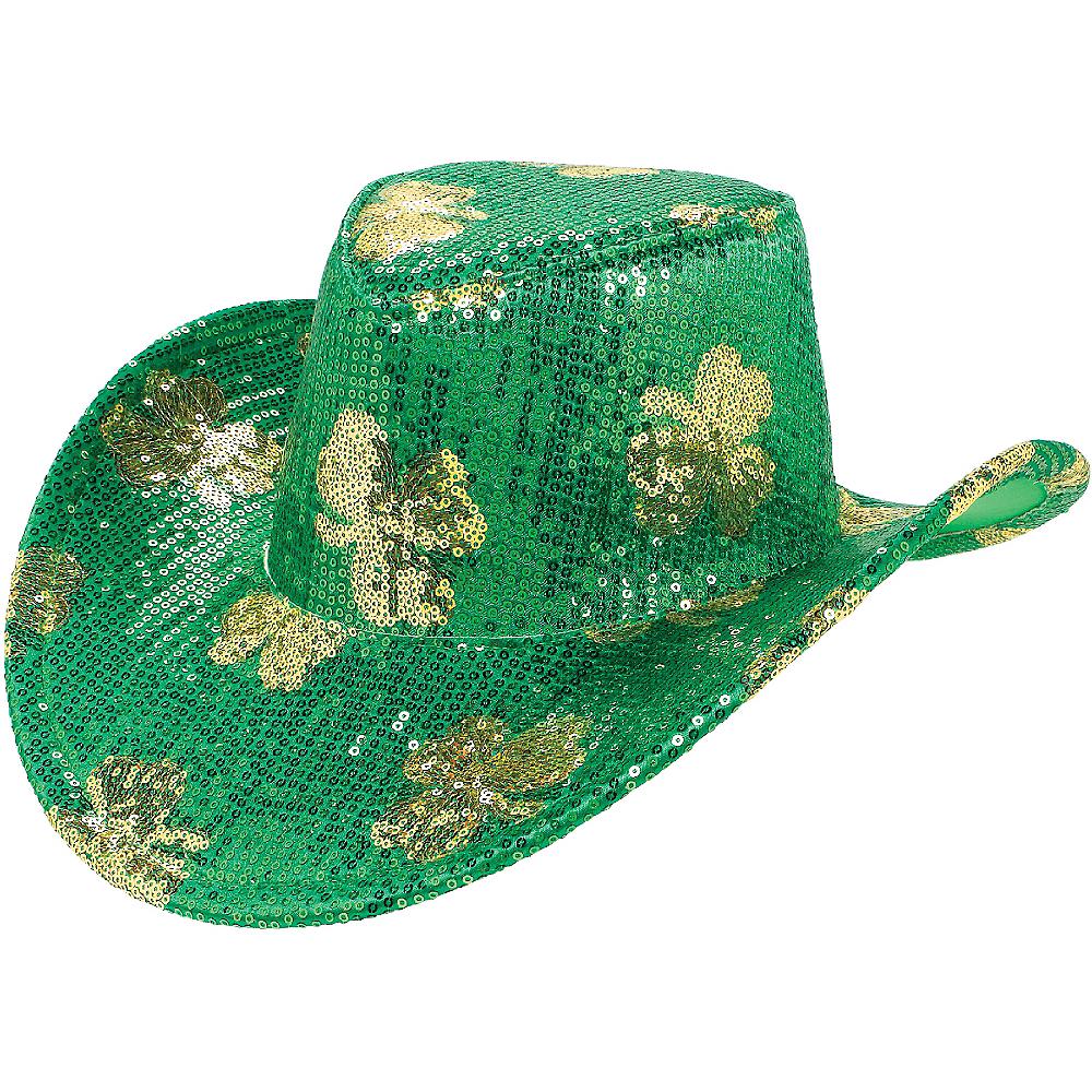 Sequin Shamrock Cowboy Hat Image #1