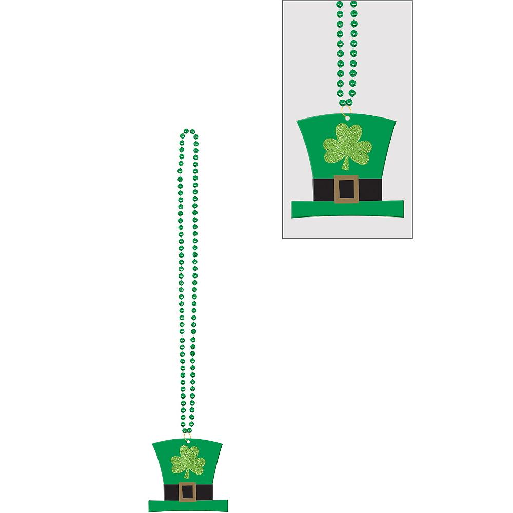 Leprechaun Hat Pendant Bead Necklace Image #1