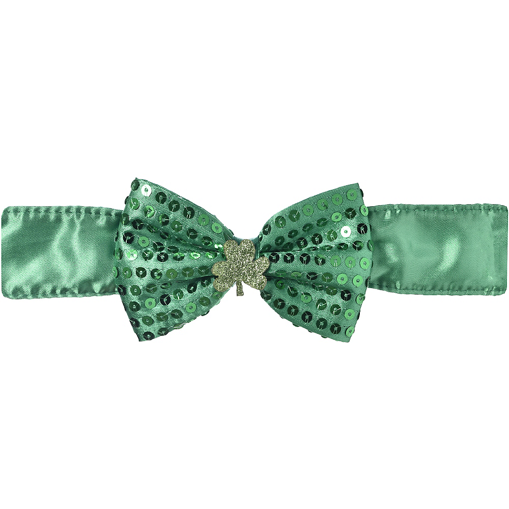 Sequin Shamrock Bow Tie Choker Image #1