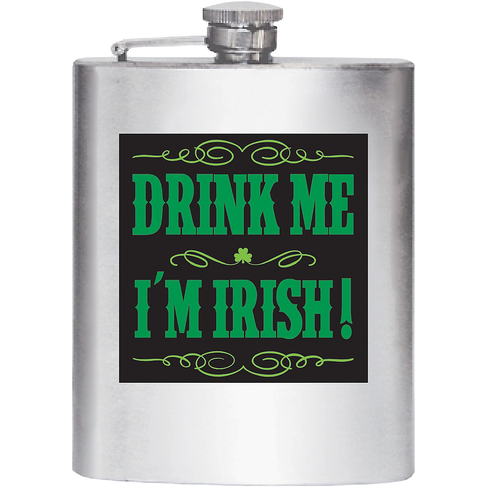 Drink Me I'm Irish Flask Image #1