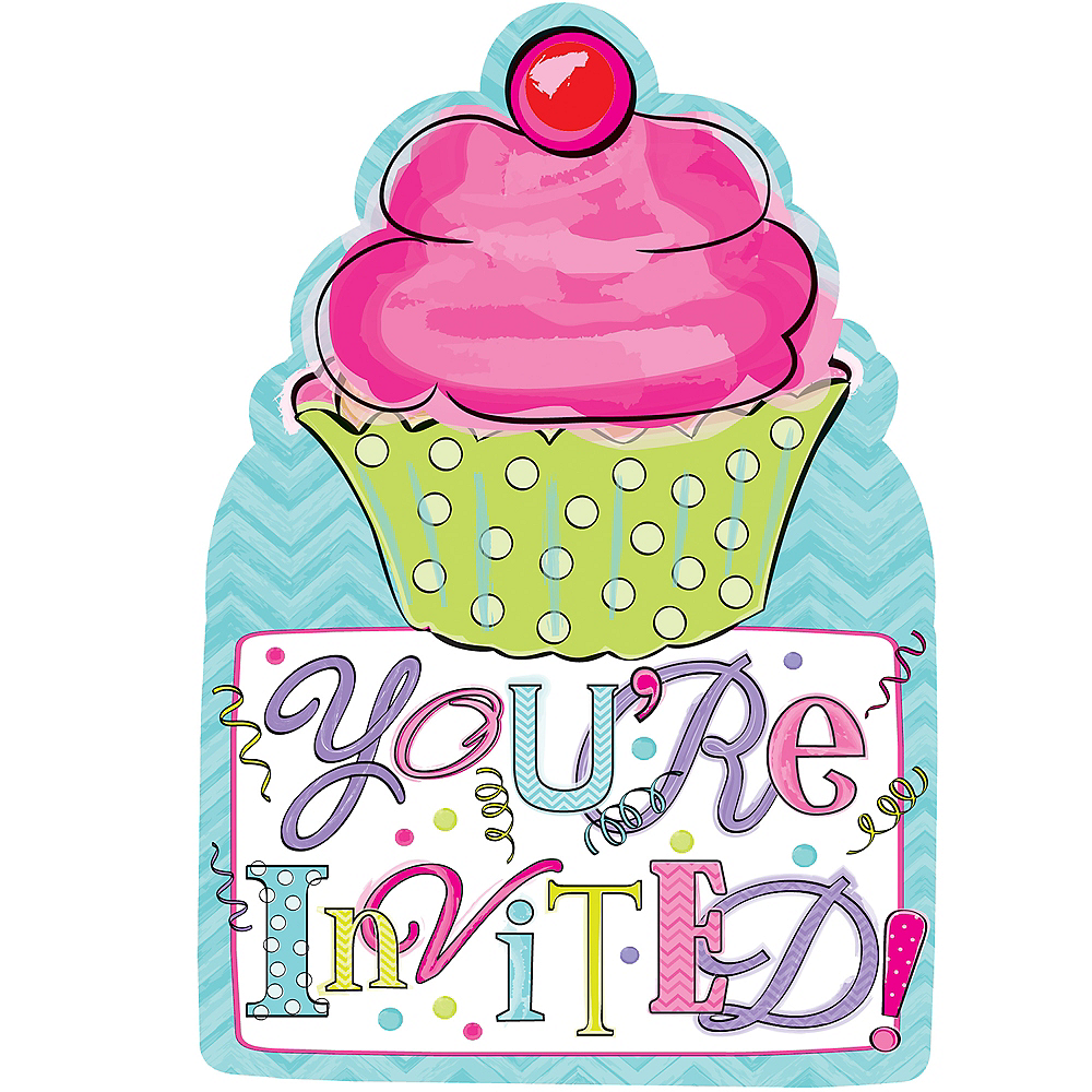 Birthday Sweets Invitations 20ct Image #1