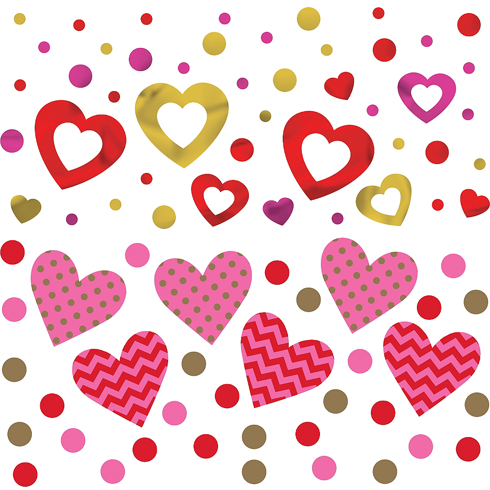 Hugs & Kisses Heart Confetti Image #1