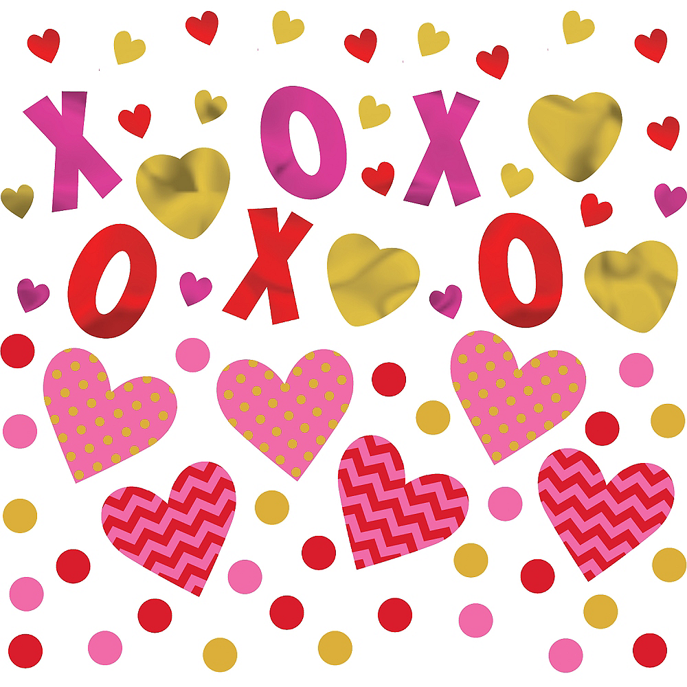 Hugs & Kisses Heart Confetti Image #2