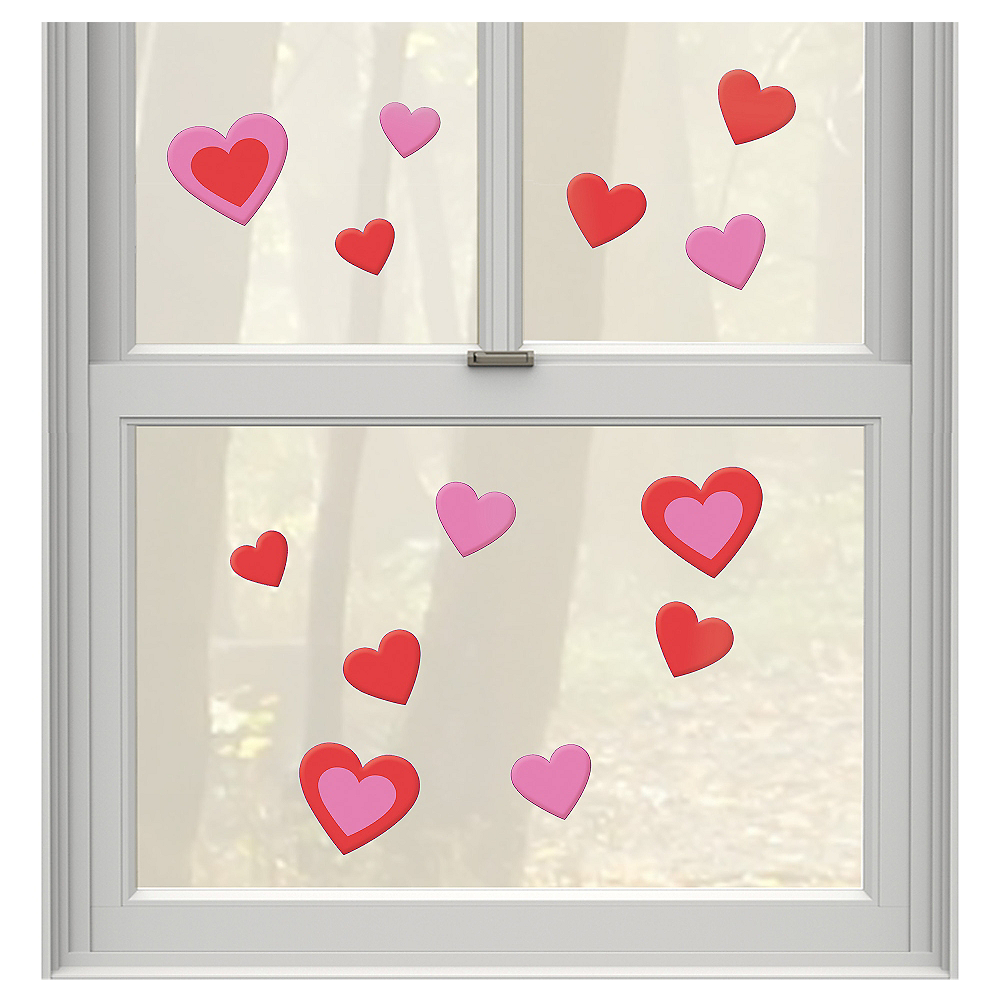 Heart Gel Cling Decals 13ct Image #1