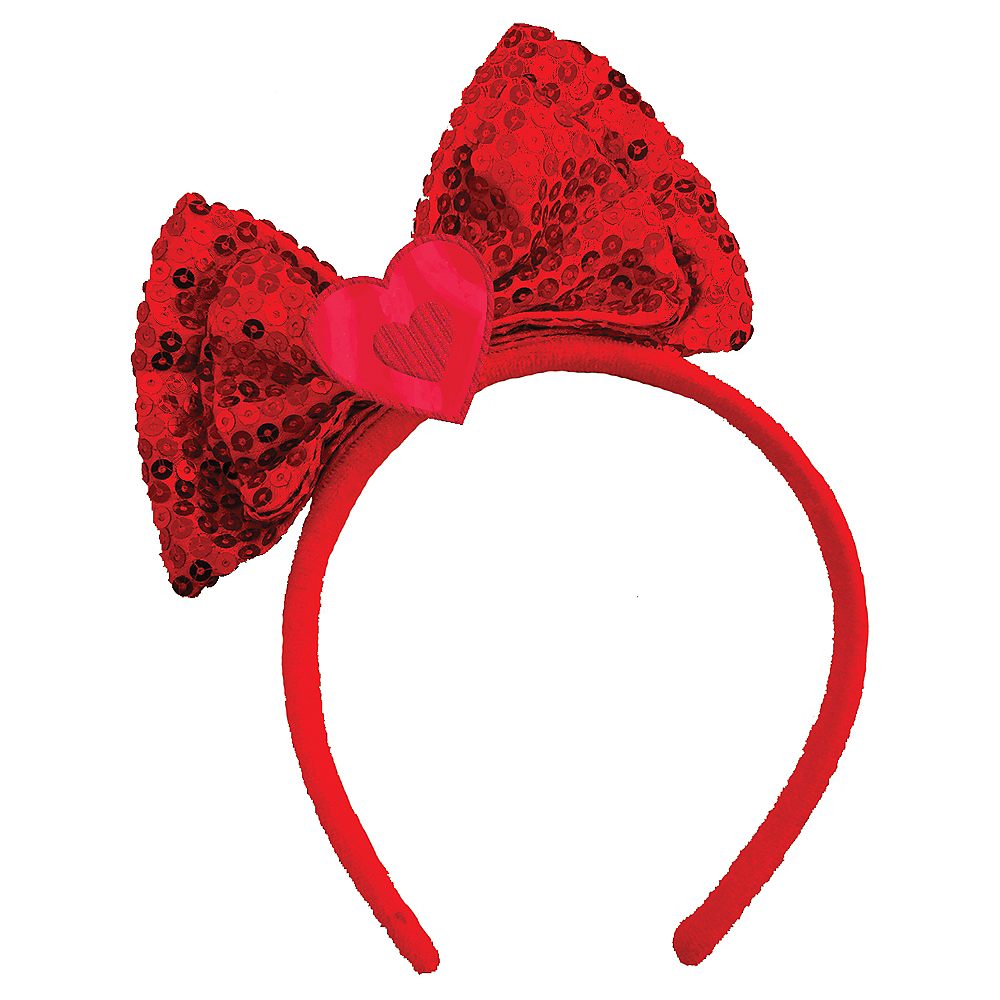 Red Sequin Bow Headband Image #1
