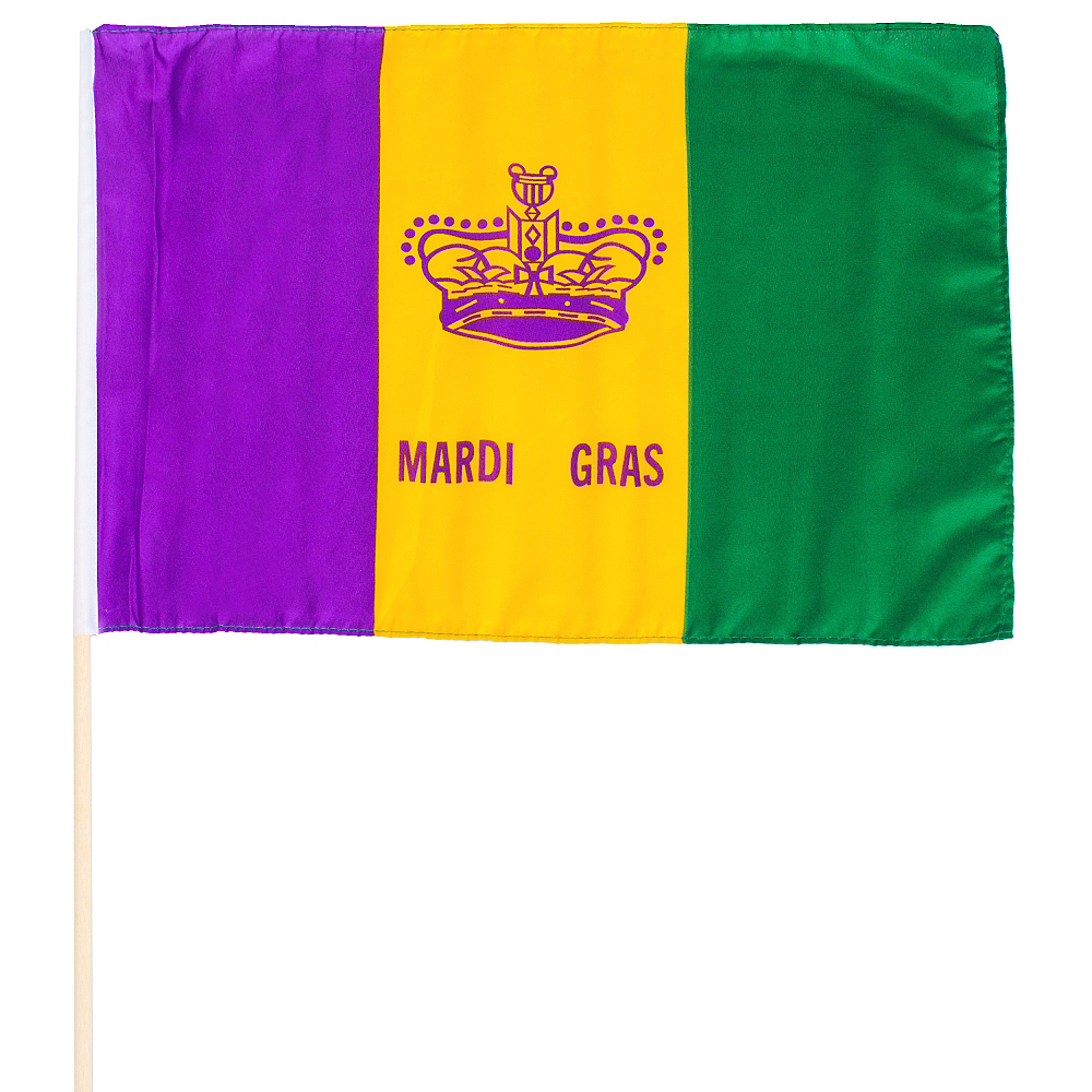 Crown Mardi Gras Flag Image #1