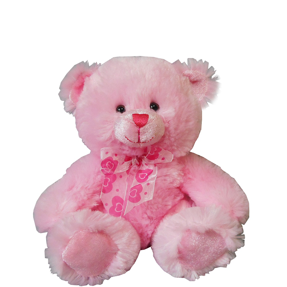 Pink Bow Tie Teddy Bear Plush Image #1