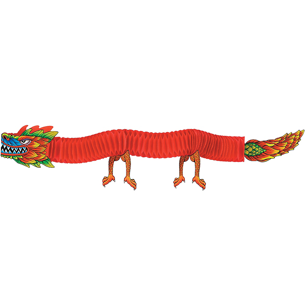 Chinese Dragon Tissue Paper Garland Image #1