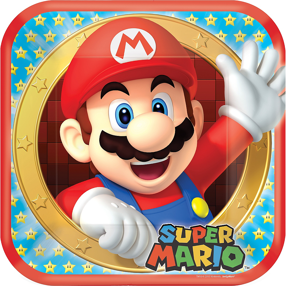 Super Mario Lunch Plates 8ct Image #1