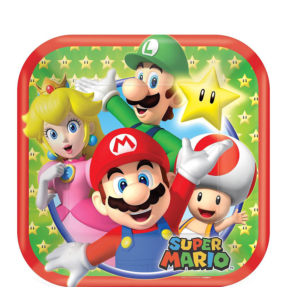 Super Mario Dessert Plates 8ct Image #1