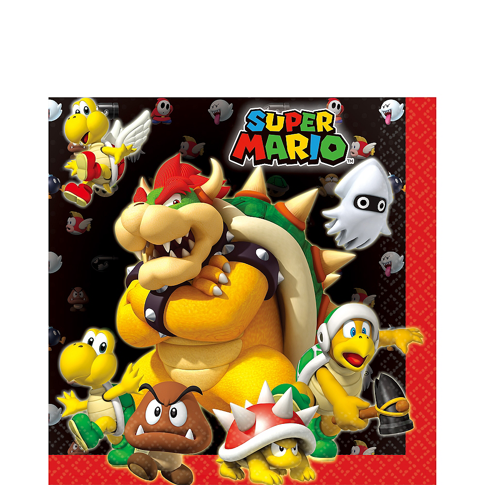 Super Mario Lunch Napkins 16ct Image #1