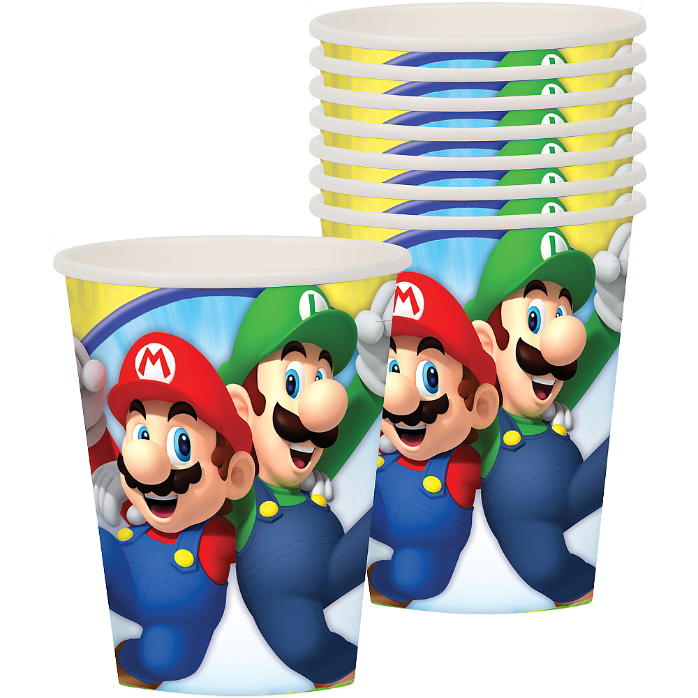 Super Mario Cups 8ct Image #1