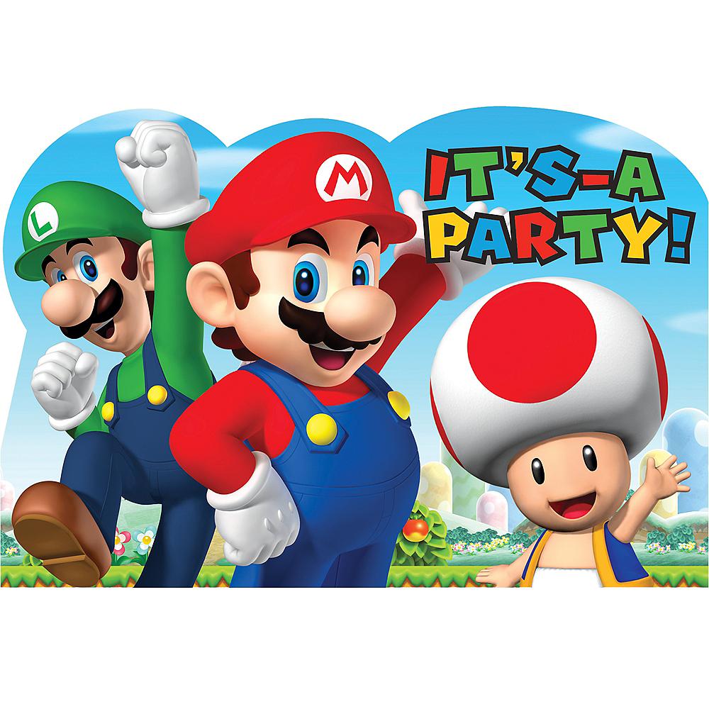 Super Mario Invitations 8ct Party City