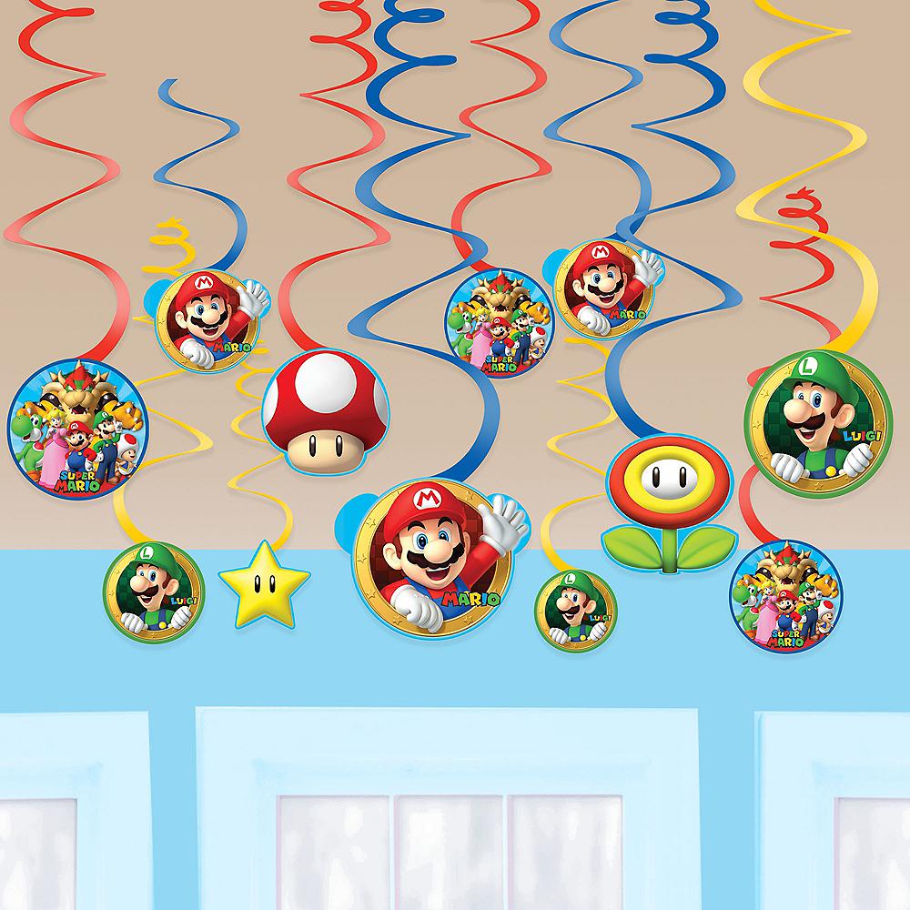 Super Mario Swirl Decorations 12ct Image #1