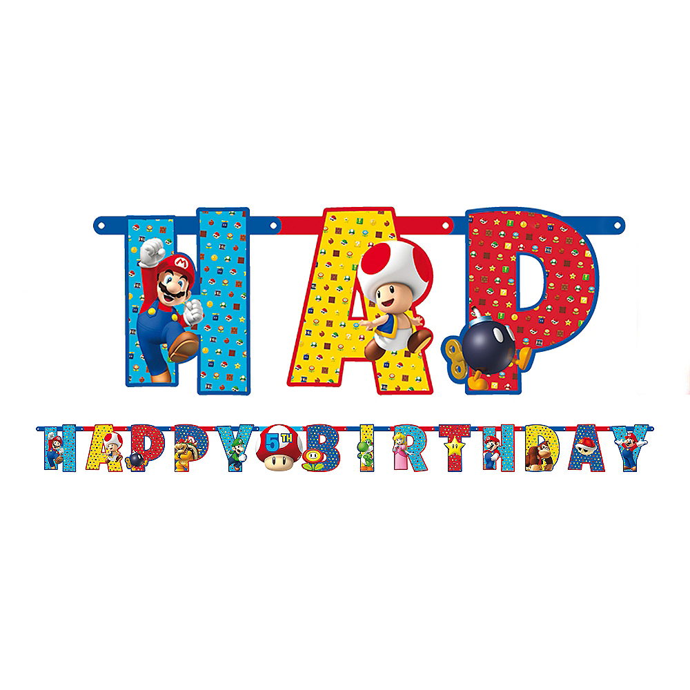 Nav Item for Super Mario Birthday Banner Image #1