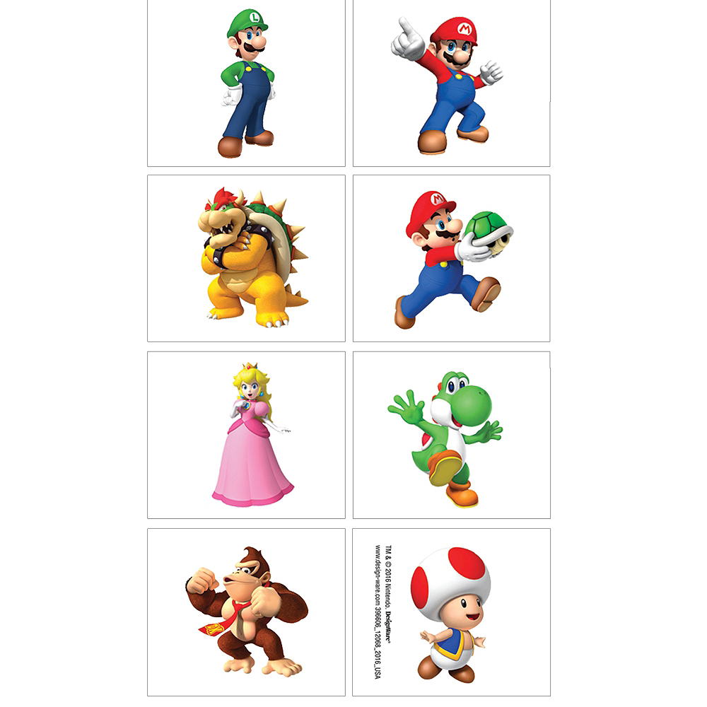 Super Mario Tattoos 1 Sheet Image #1