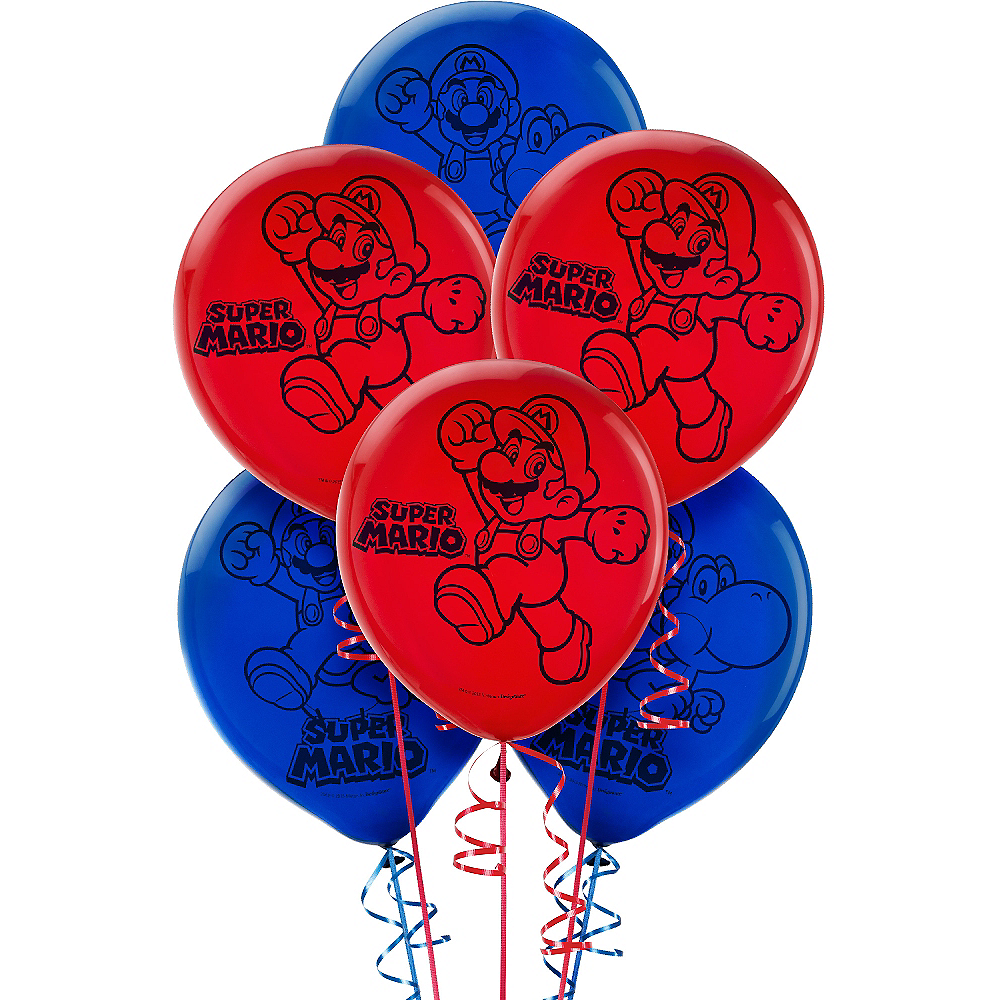 Nav Item for Super Mario Balloons 6ct Image #1