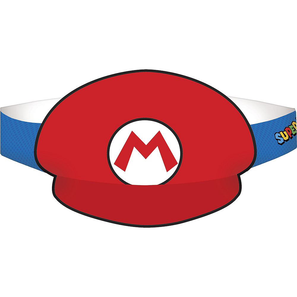 Nav Item for Mario & Luigi Party Hats 8ct - Super Mario Image #1