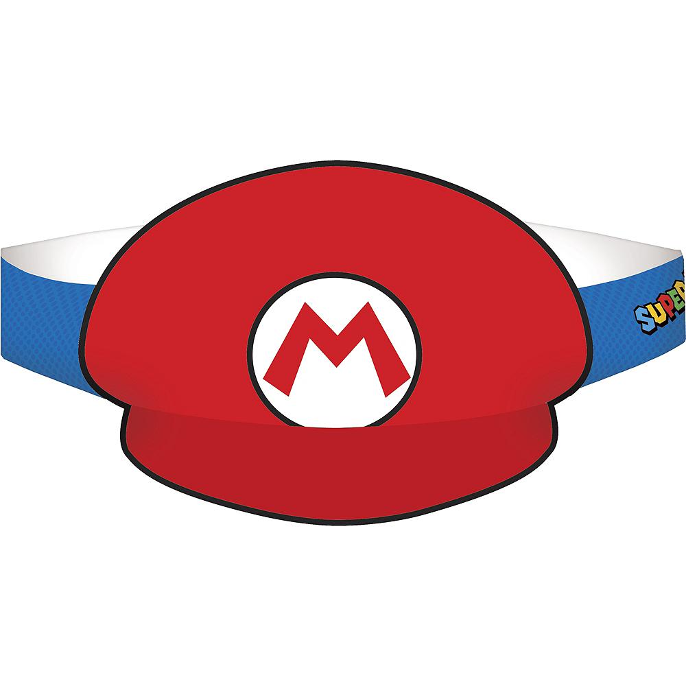Mario & Luigi Party Hats 8ct - Super Mario Image #1