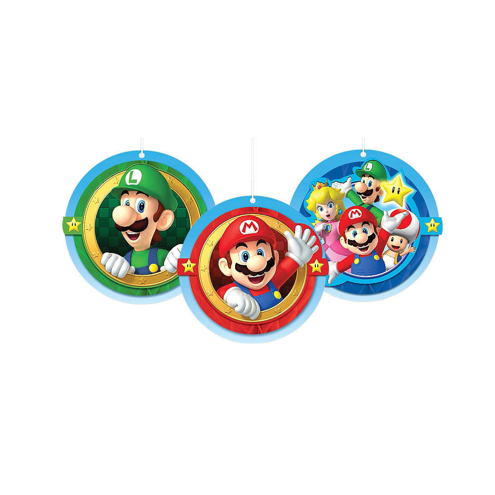 Super Mario Honeycomb Balls 3ct Image #1