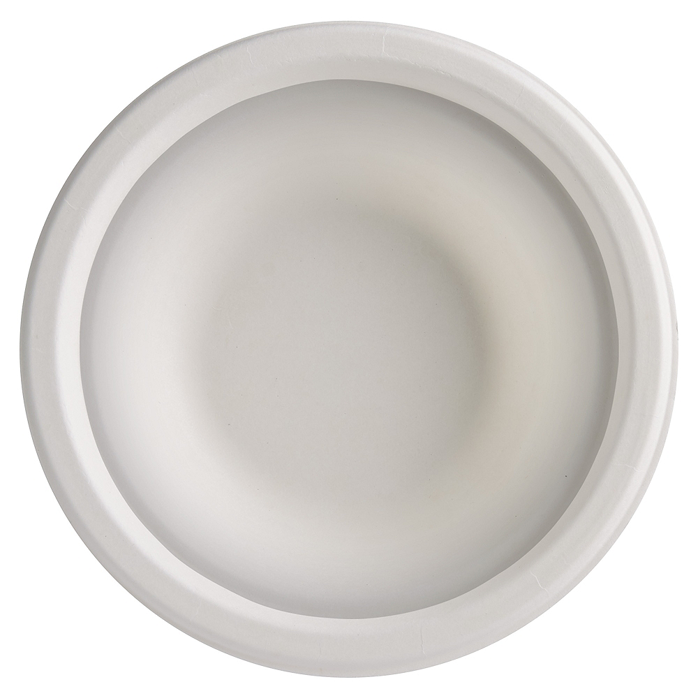 Eco-Friendly White Sugar Cane Bowls 50ct Image #2