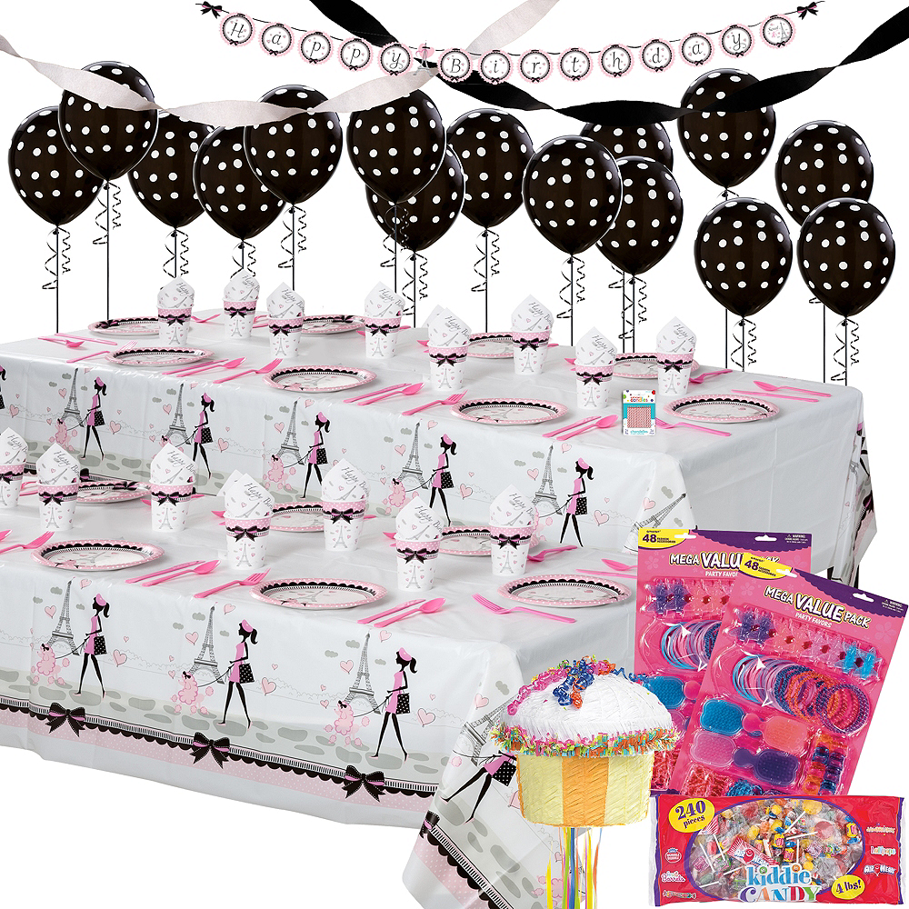 Ultimate Party Supplies And Rental Store In City Of Nashville: Pink Paris Ultimate Party Kit For 16 Guests
