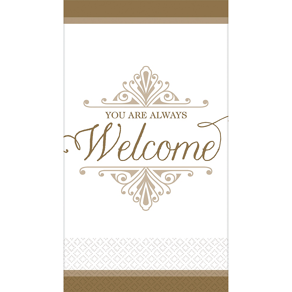 Gold Welcome Premium Guest Towels 16ct Image #1