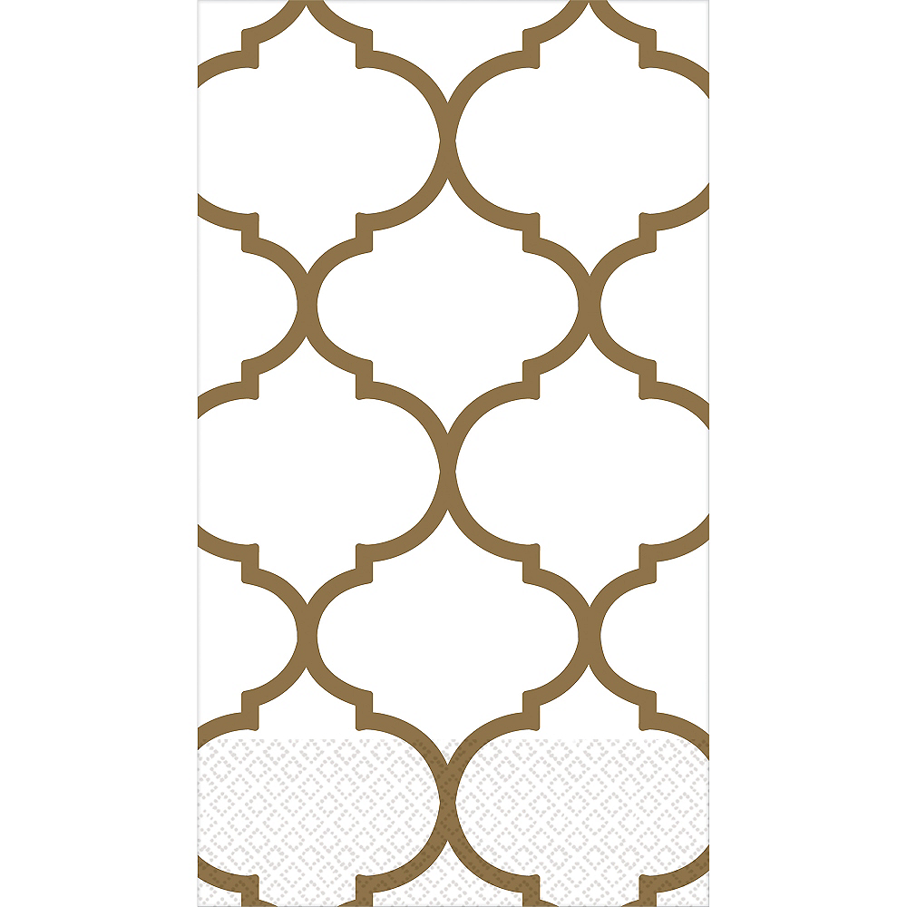 Gold Lattice Premium Guest Towels 16ct Image #1
