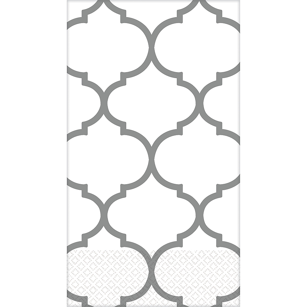 Silver Lattice Premium Guest Towels 16ct Image #1