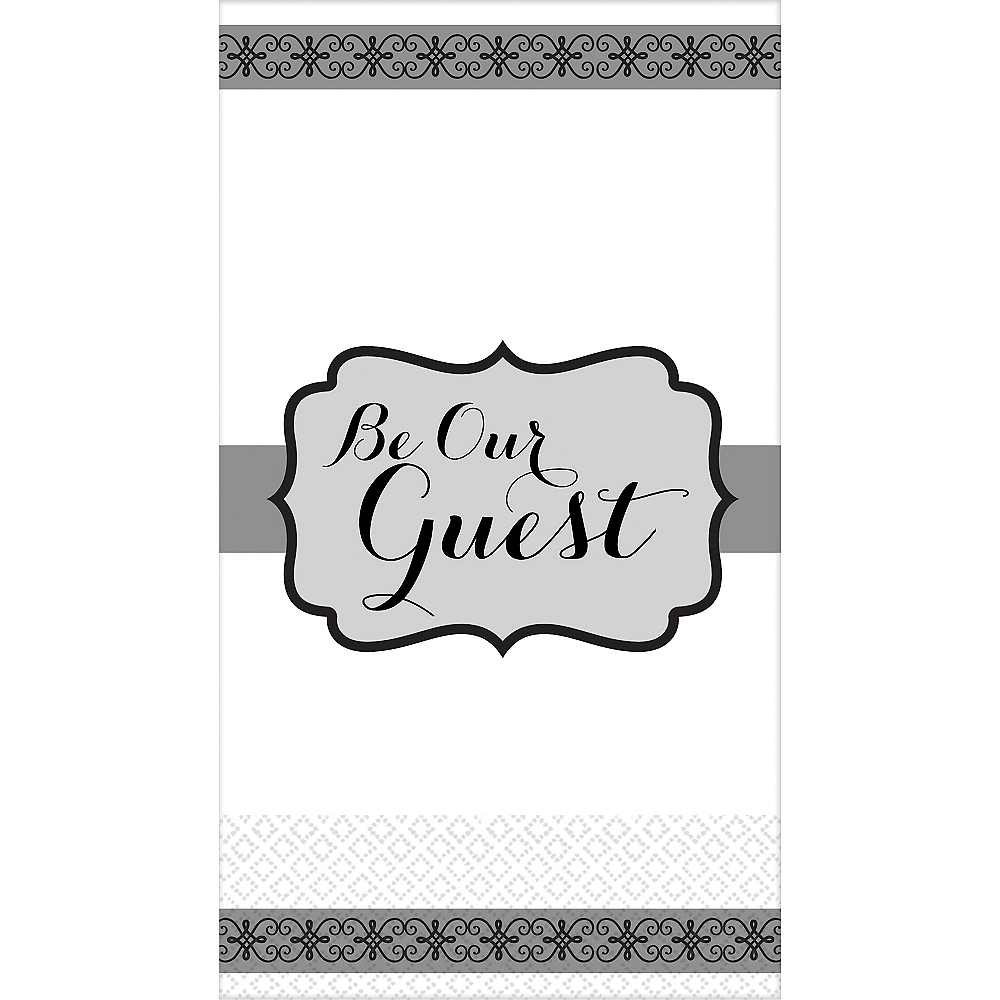 Silver Be Our Guest Premium Guest Towels 16ct Image #1