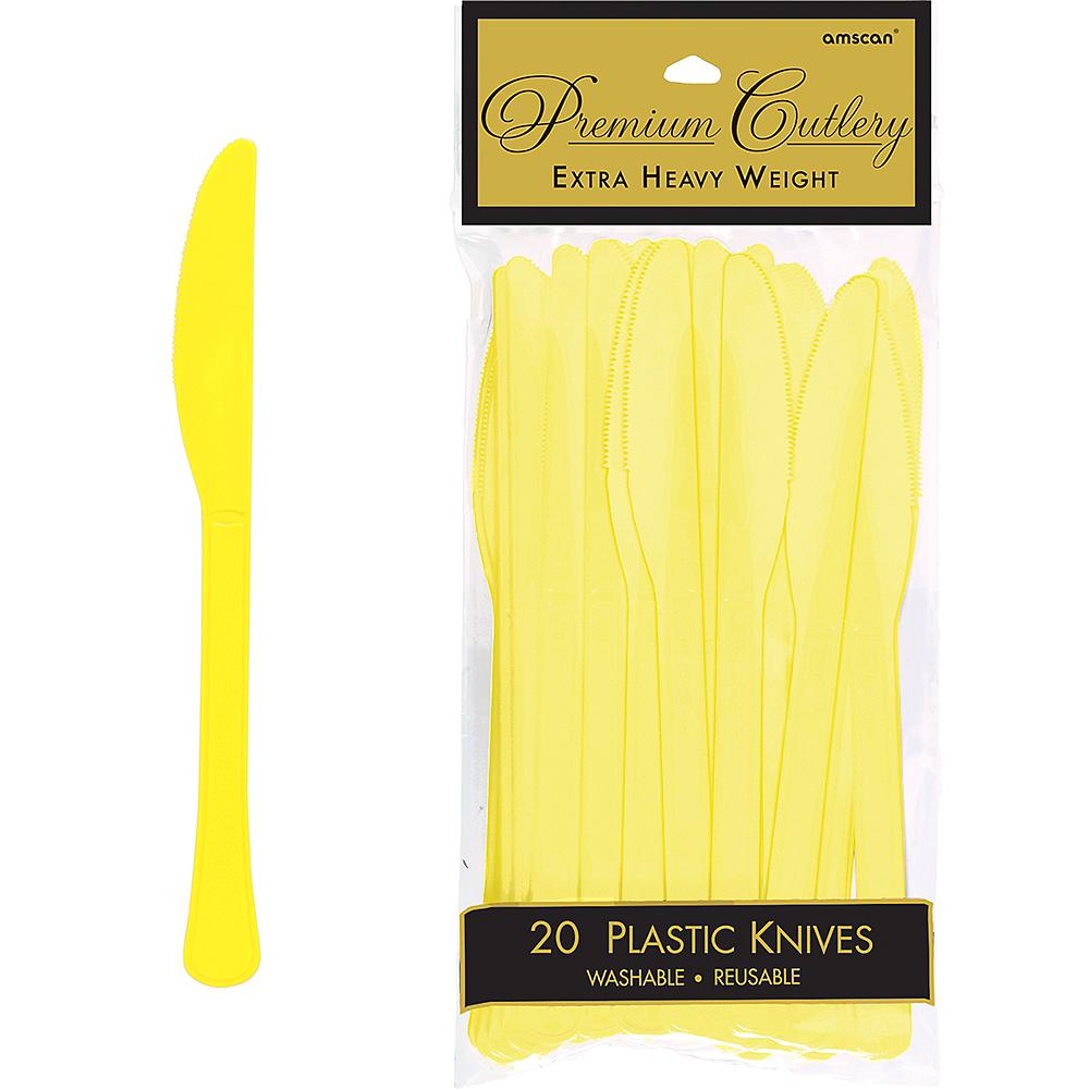 Light Yellow Premium Plastic Knives 20ct Image #1