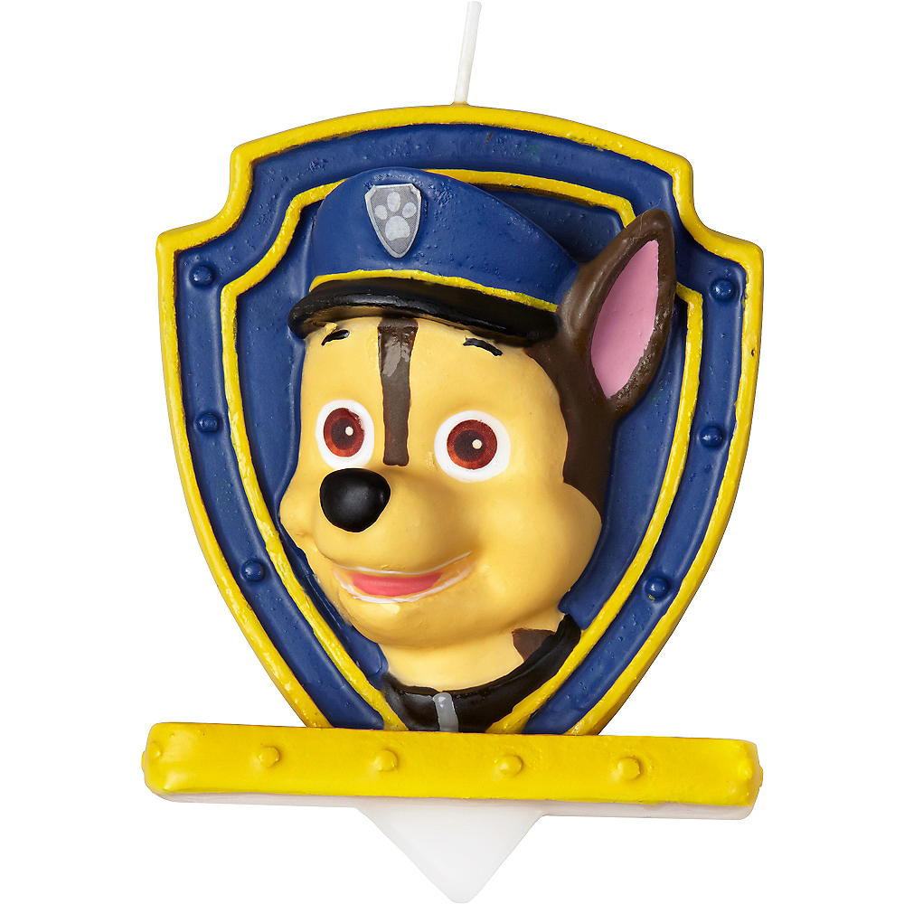 Wilton Chase Birthday Candle - PAW Patrol Image #1