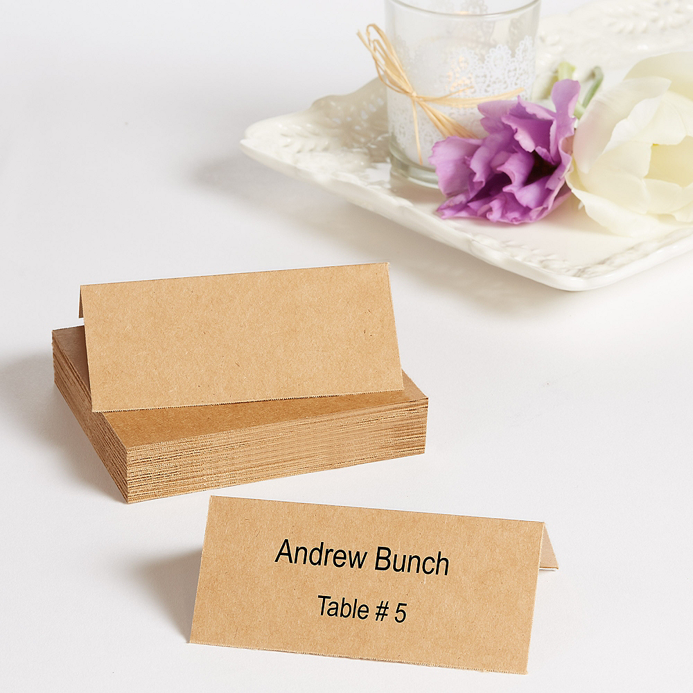 Nav Item for Kraft Printable Place Cards 48ct Image #1